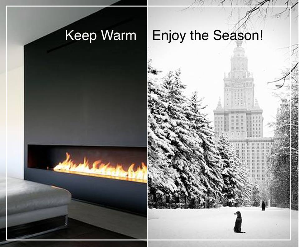 Keep Warm with a Sleek Fireplace
