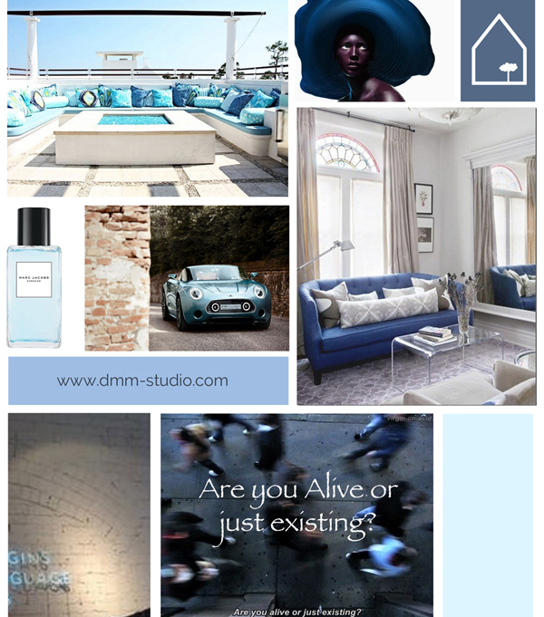 Moodboard | Winter Blues Inspiration