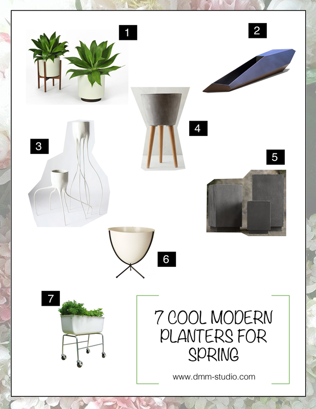 7 Cool & Modern Planters for Spring | Picks by DMM Studio