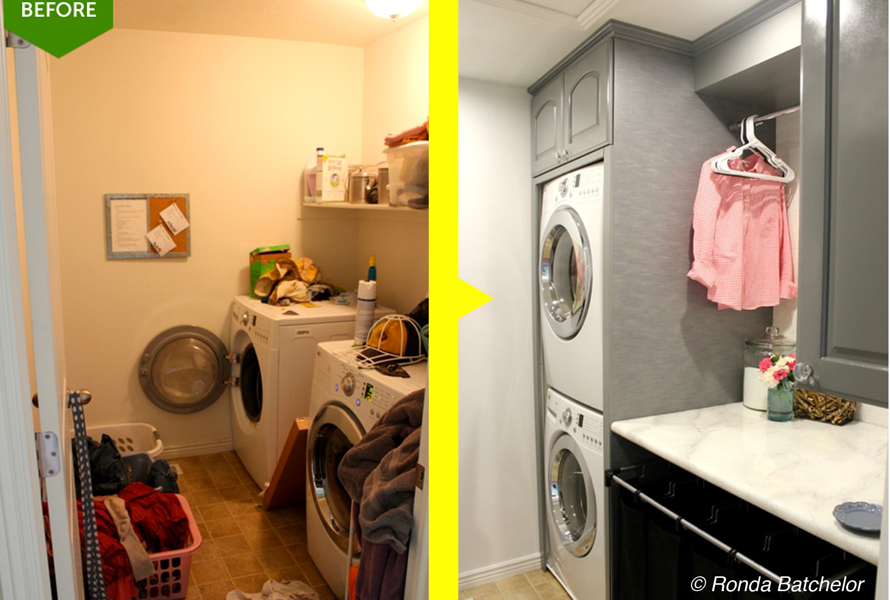 How A Small Laundry Room Was Transformed Into A Sleek Ultra-Efficient Space