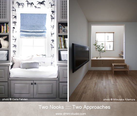The Tale of Two…In Design | Two Nooks :: Two Approaches